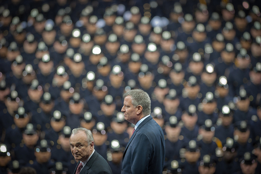 NYPD Commissioner William Bratton and Mayor Bill de Blasio Preside over NYPD Graduation Ceremony