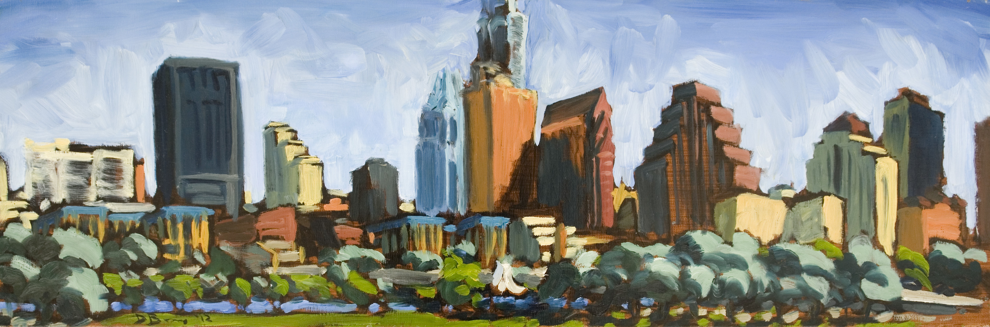 Austin Paintings Austin Skyline