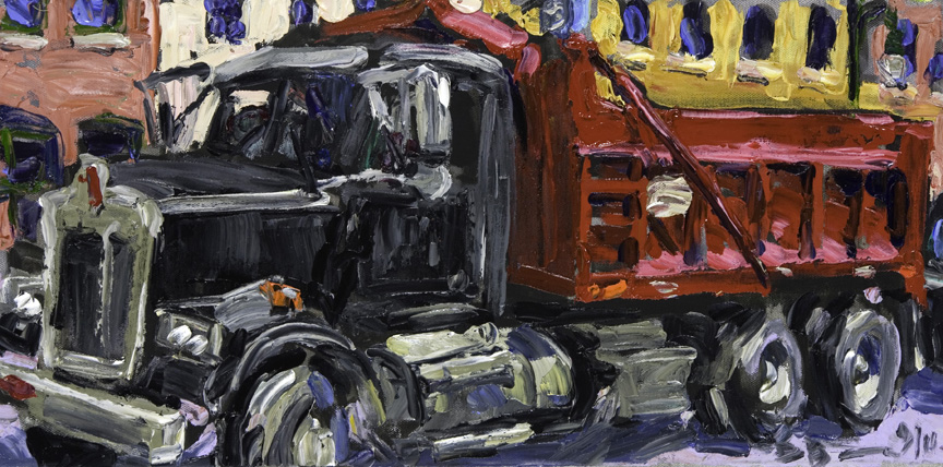 Austin Paintings Red Dump Truck