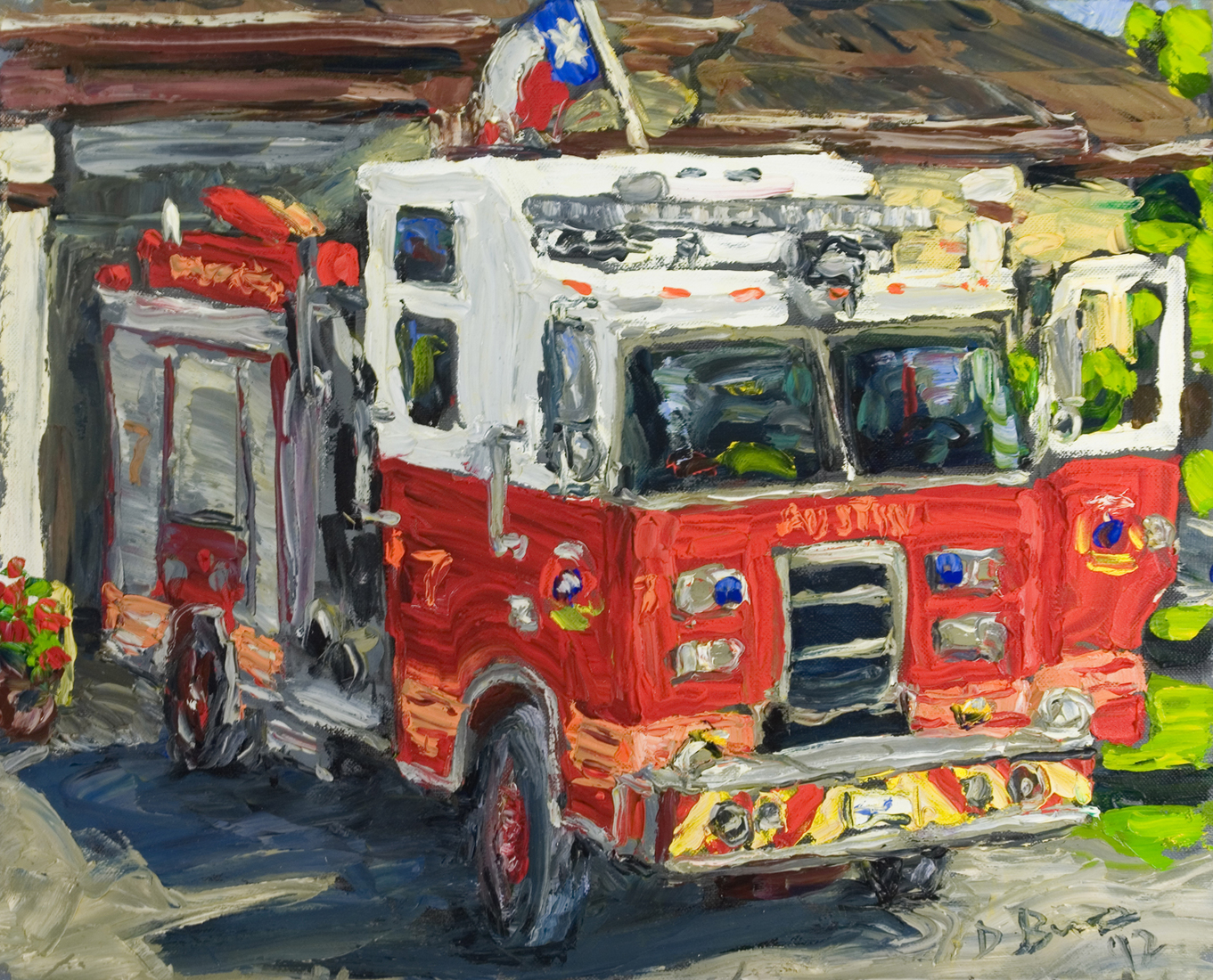 Austin Paintings Fire Truck