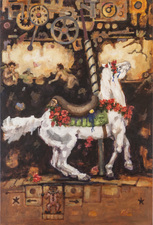 Christine Cardellino Gallery: Fabulous Menagerie Acrylic/Mixed on Canvas