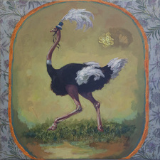Christine Cardellino Gallery: Fabulous Menagerie Acrylic and mixed media on canvas