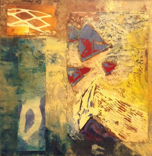 Cari Rosmarin Abstract oils oil/monotype collage/canvas