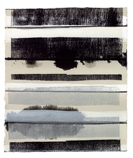CARLA AURICH Drawings 2014- Fossil and Limestone sumi ink, printing ink, gouache on bfk paper