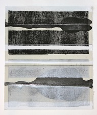 CARLA AURICH Drawings 2014- Fossil and Limestone sumi ink, printing ink and gouache on rives bfk