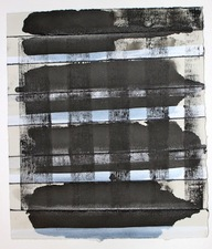 CARLA AURICH Drawings 2014- Fossil and Limestone sumi ink, printing ink and gouache