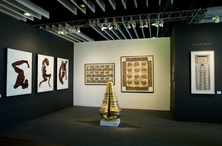 Carole Seborovski Gallery Installations Group exhibition. (Gold sculpture illus.)