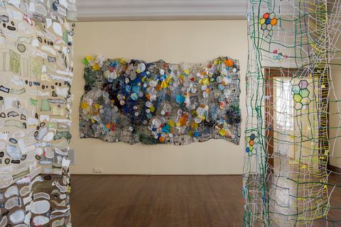 Caroline Lathan-Stiefel  Greenhouse Mix (2014) fabric, plastic, pipe cleaners, wire, thread, string, fishing weights