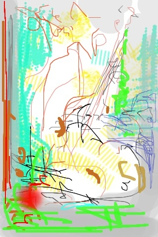 iPhone and Digital Drawings iPhone Drawing - Music Drawing Jazz in the Village