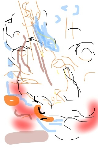 iPhone and Digital Drawings iPhone Drawing - Music Drawing Jazz in the Village Bird's Eye View
