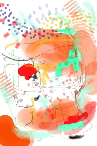 iPhone and Digital Drawings iPhone Drawing - Music Drawing drumming Circle at Artistree . djembe love