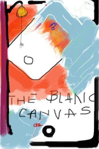 iPhone and Digital Drawings iPhone Drawing - fb the blanc canvas