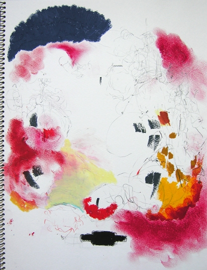 Taiko Drawings II Carnet Taiko 4F Burgundy VERTICAL images 'Melody of Bachi, Tone of Shime, silent is the cannon today'