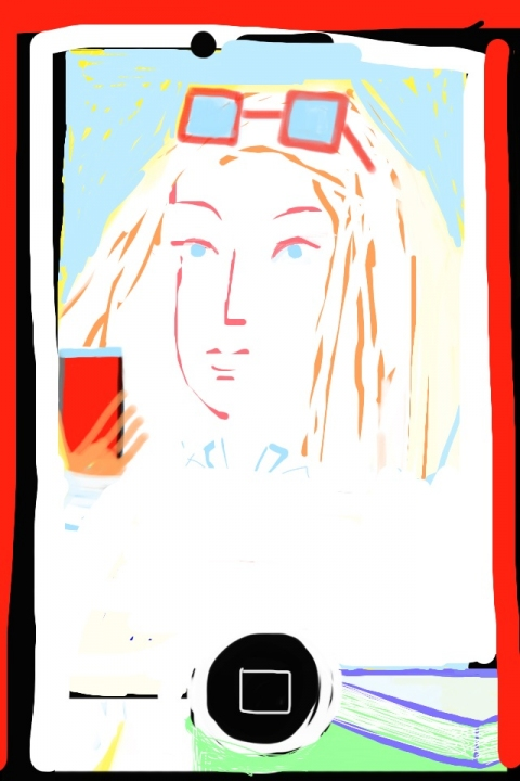 iPhone and Digital Drawings iPhone Drawing - Wendy as muse