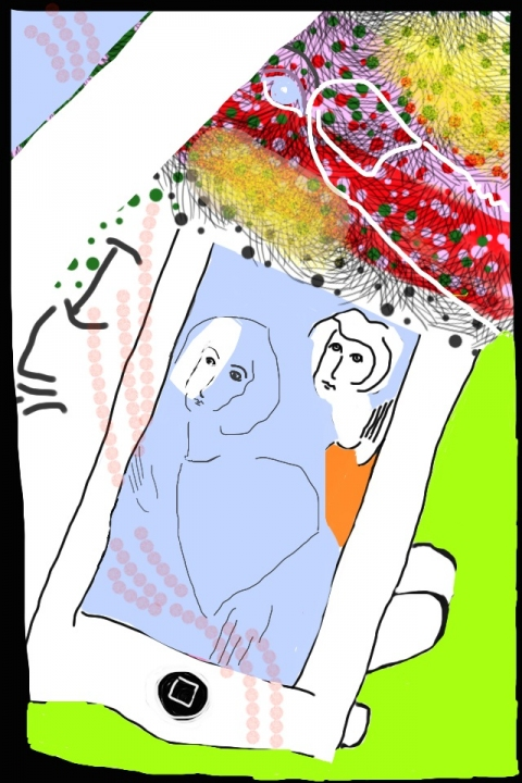iPhone and Digital Drawings iPhone Drawing - In the palm of my hand