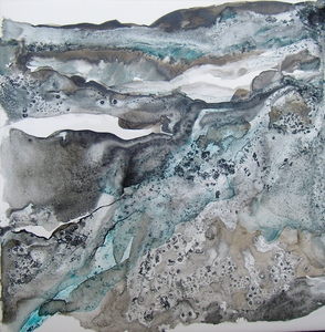 Carol Anna Meese Earth Series ink on tile