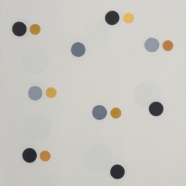 Notions About  Space-Paintings Gray And Gold