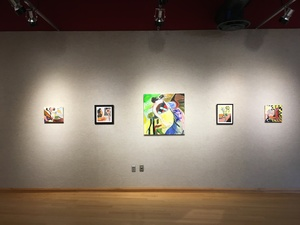 Carol Radsprecher Exhibition Installation Photos Digital prints and oil paintings