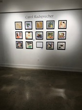 Carol Radsprecher Exhibition Installation Photos Digital prints drawn and colored in Photoshop