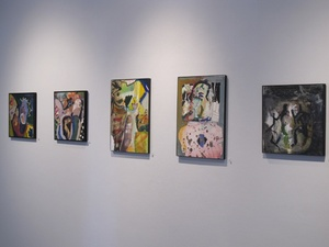 Carol Radsprecher Exhibition Installation Photos Ink and acrylic on Claybord(TM)