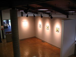 Carol Radsprecher Exhibition Installation Photos Photoshop drawings/prints