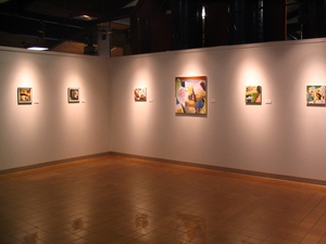 Carol Radsprecher Exhibition Installation Photos Paintings and Photoshop drawings/prints