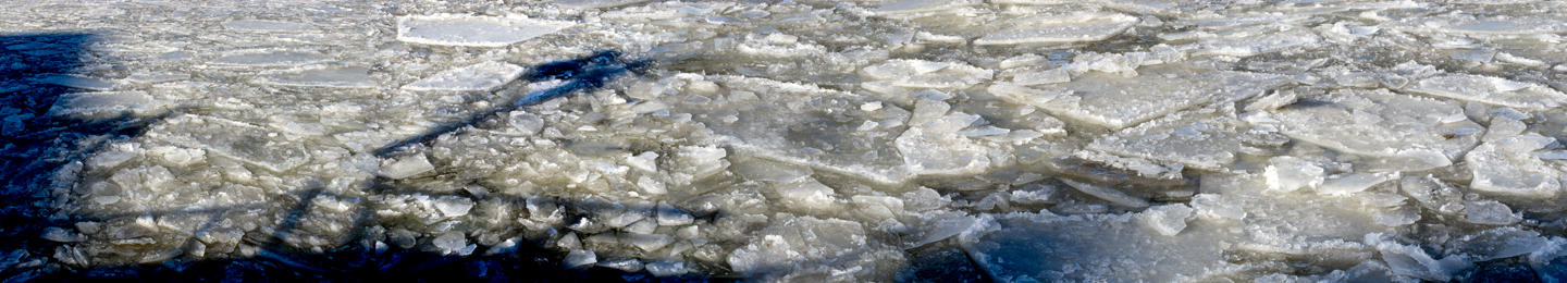 WATER Blue Ice Hudson River