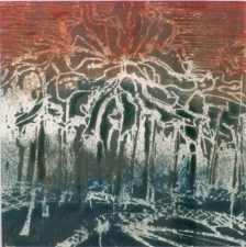 Cate M. Leach Works on Paper monoprint