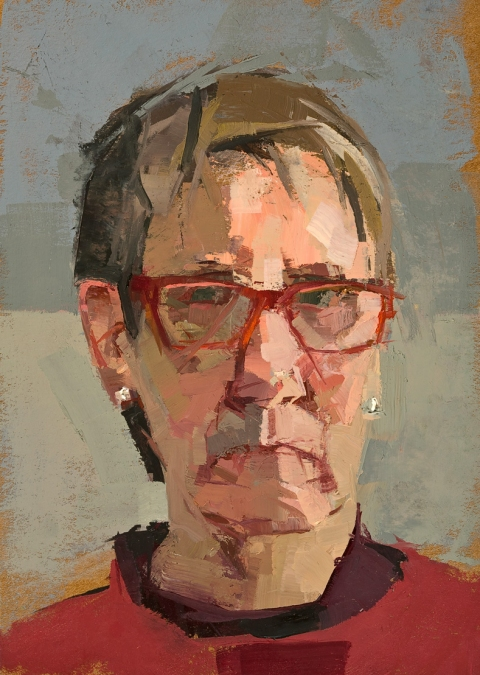 CATHERINE KEHOE HEADS oil on board