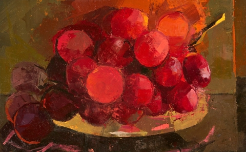 CATHERINE KEHOE STILL LIFE oil on board