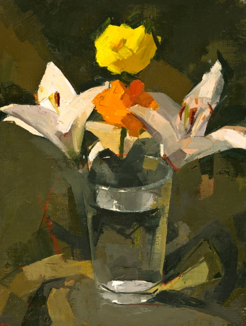 CATHERINE KEHOE STILL LIFE oil on linen on board