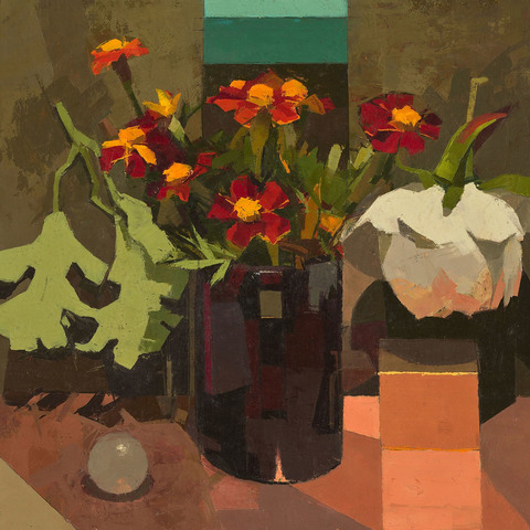 CATHERINE KEHOE STILL LIFE oil on linen on panel