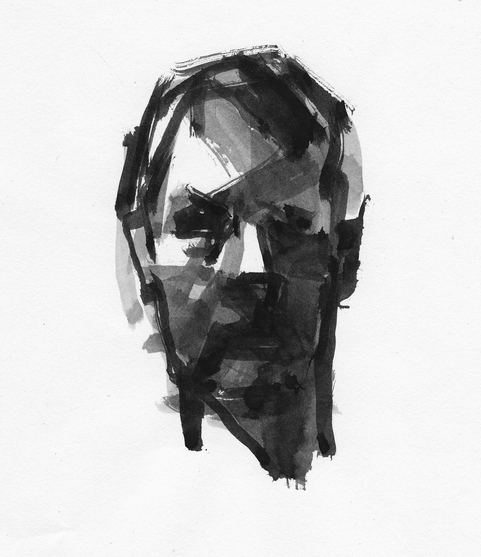 WORKS ON PAPER Self-portrait