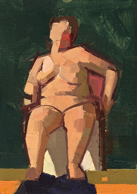 CATHERINE KEHOE FIGURES oil on linen on panel