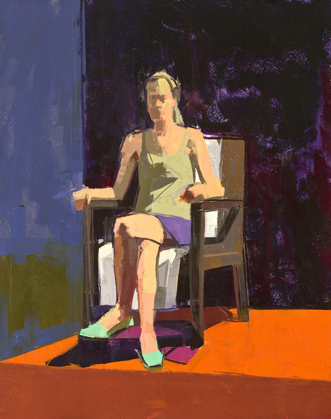 CATHERINE KEHOE FIGURES oil on panel
