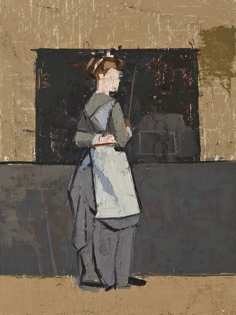 CATHERINE KEHOE BEFORE AND AFTER oil on linen on panel