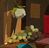 STILL LIFE oil on linen on panel
