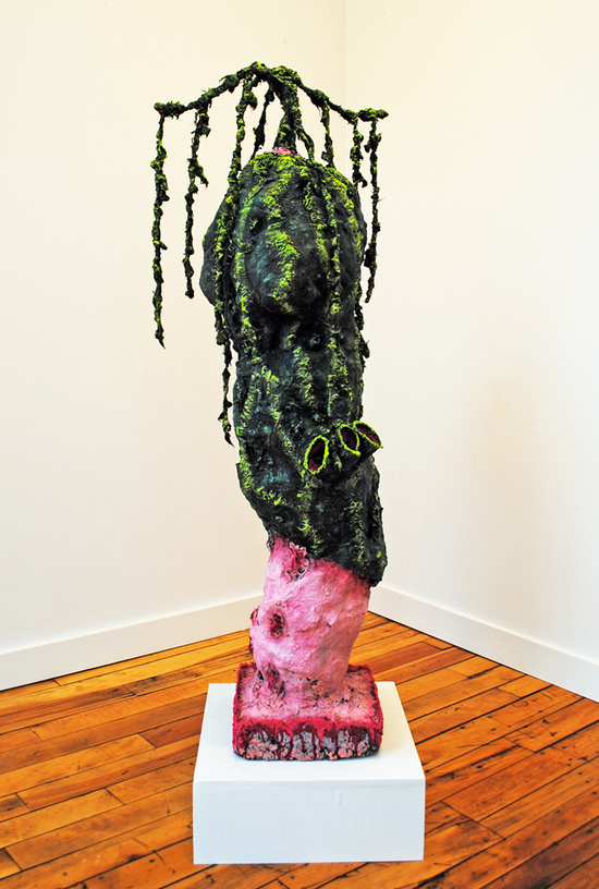 cathy wysocki SUFFER A SEA CHANGE - sculpture plaster, burlap, wire, concrete, cardboard, lint,marble dust,acrylic