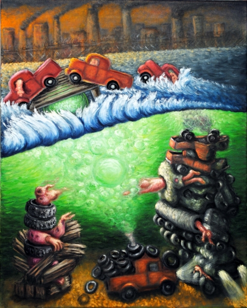 cathy wysocki SUFFER A SEA CHANGE - paintings oil on canvas