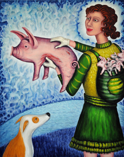 cathy wysocki ALLEVIATORS oil on canvas