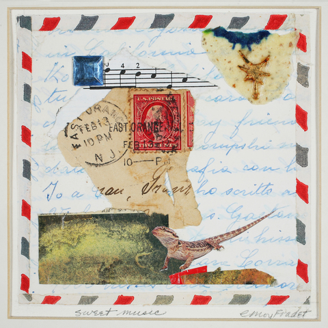Cecilia Moy Fradet Maps mixed media collage on paper