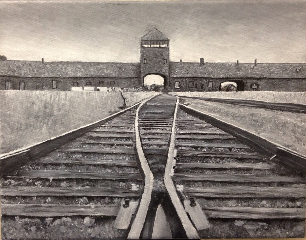 high school student work train to auschwitz