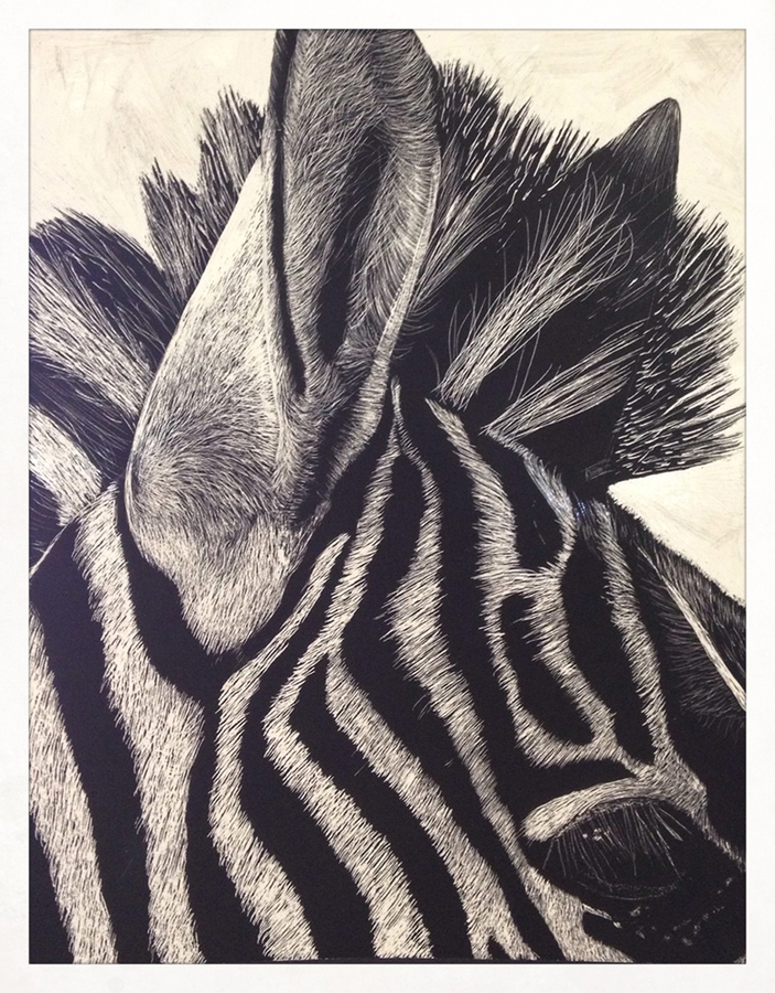 high school student work zebra