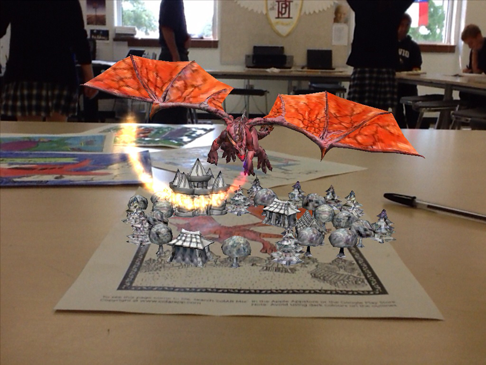 high school student work dragon