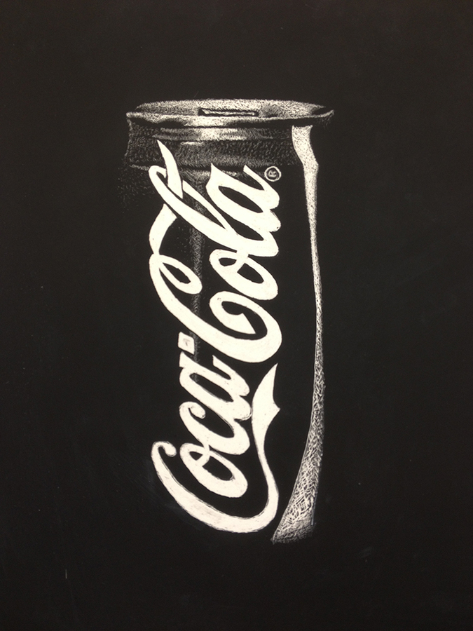 high school student work coke can