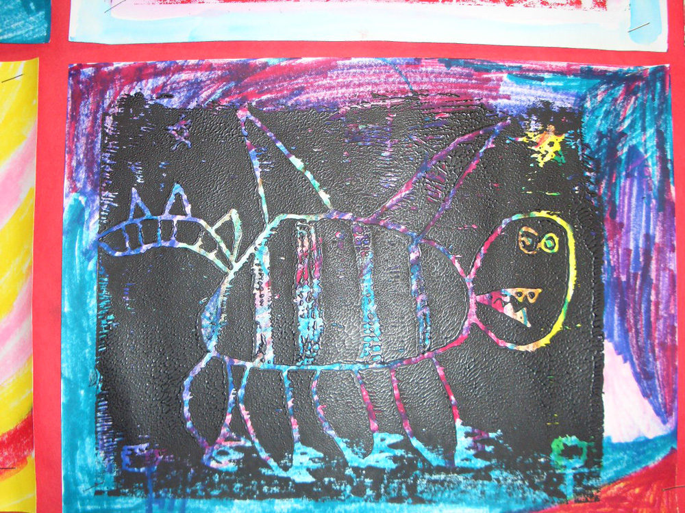 elementary student work imaginary creatures