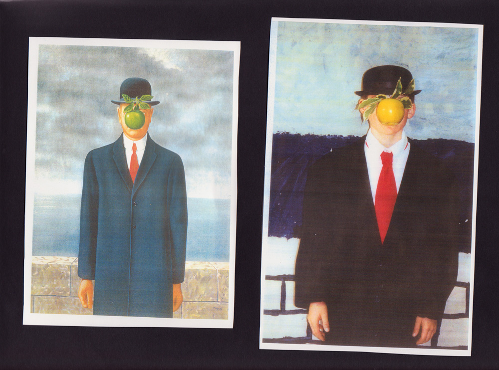 elementary student work magritte