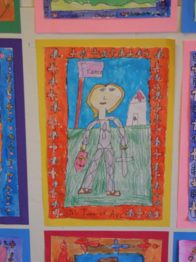 elementary student work st. joan of arc