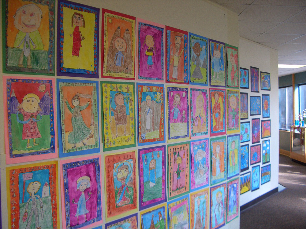 elementary student work second grade saints
