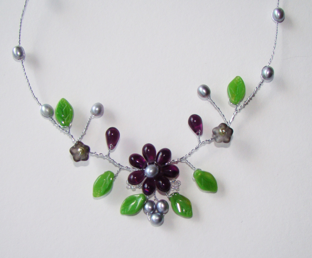 various media purple necklace